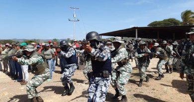 Cuadrillas de paz y milicias territoriales realizan ejercicio de producción y defensa integral