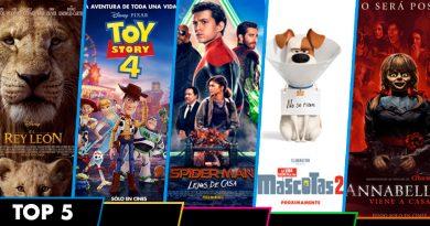 """""""El Rey León"""" roba a """"Toy Story 4"""" el 1er lugar del Top 5"""