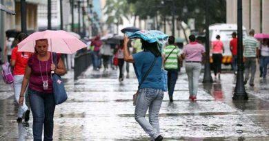 Inameh prevé precipitaciones con descargas eléctricas en gran parte del país