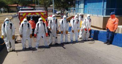Plan de desinfección llegó al hospital Rafael Gallardo en Coro