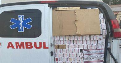 Presos dos militares por trasladar en una ambulancia 80 bultos de cigarros de contrabando