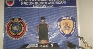 Preso motorizado con drogas en el municipio Falcón