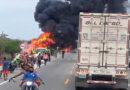 Suben a 11 los muertos por incendio de camión cisterna en Colombia