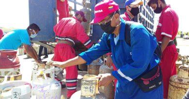 Trabajadores de la refinería Amuay del CRP beneficiados con Gas doméstico