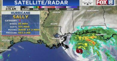 """Alertan sobre posibles inundaciones """"históricas"""" en EEUU por el huracán Sally"""
