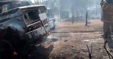Cuatro quemados deja explosión de 2 camiones con combustible en Maicao