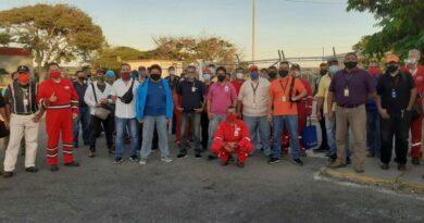 Trabajadores petroleros protestaron para exigir medidas de seguridad por el Covid-19