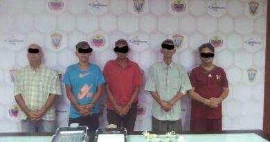 Cicpc apresa a cinco hombres con droga en Antiguo Aeropuerto