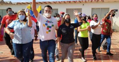 Llave Andrés Eloy Méndez y Marelys Castro dijeron presente en municipio Falcón