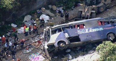 Al menos 16 muertos al caer bus desde un puente en Brasil