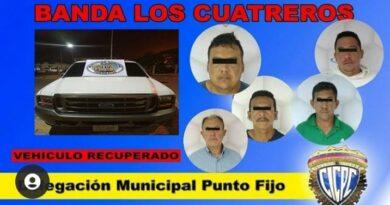 CICPC desmantela banda «Los Cuatreros» en Los Taques