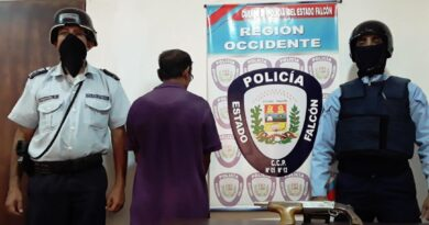 Dabajuro:  Amenazó de muerte a su hija con un arma de fuego y fue detenido