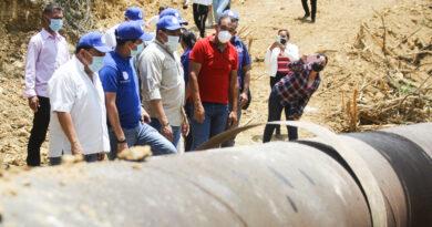 Gobernador inspeccionó trabajos del acueducto de agua potable en el municipio Zamora