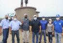 El brazo protector del  Gobernador Clark llegó al pueblo del municipio Falcón