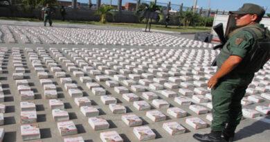 Venezuela ha incautado casi 19 toneladas de drogas en lo que va de 2021