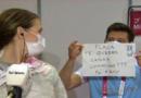 ¡Olimpiadas del amor! Le propusieron matrimonio a esgrimista Belén Pérez en plena entrevista