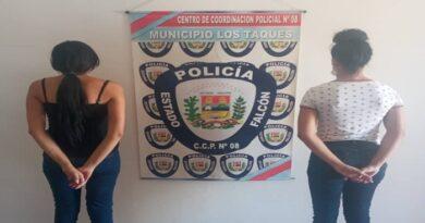 Aprehendidas dos mujeres por riña en Los Taques