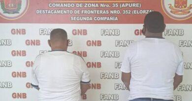 Dos detenidos por tráfico humano de adolescentes en Bruzual, Apure